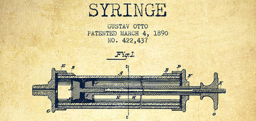 Syringe Patent from 1890