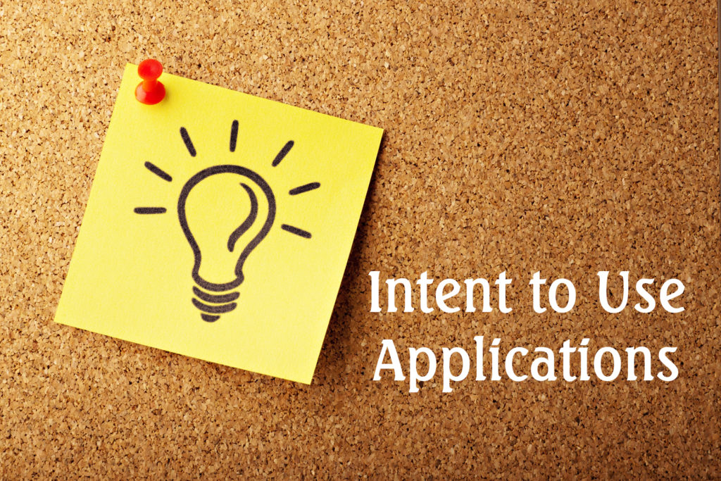 Intent to Use Applications - Service Marks and Trademarks